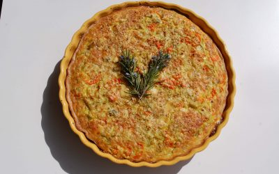 QUICHE DE PUERROS AL CURRY